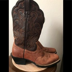 Ariat Square Toe Leather Boot 6 Western Wear